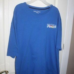 Nautica blue tee shirt nautical flags XXL nice!